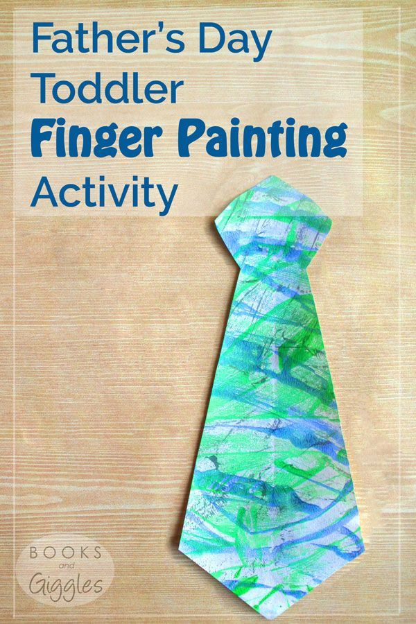 Fathers Day Toddler Finger Painting Activity