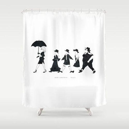 Horror Shower Unique Shower Black Shower Curtains At In 2019