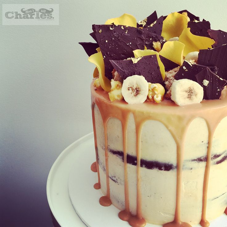 Banoffee Cake With Salted Caramel Drip Cakes By Don T