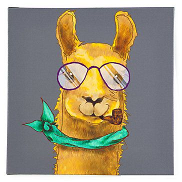 Hipster Llama Art A Must For The Hipster In Your Life