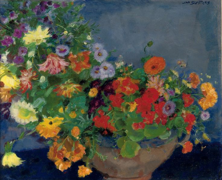 Jan Sluijters (Dutch, 1881-1957), Colourful flowers. Oil on canvas, 60 x 72.5 cm.