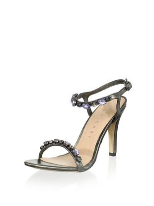 81% OFF Lola Cruz Women's High Heel Jeweled Sandal (Plomo)