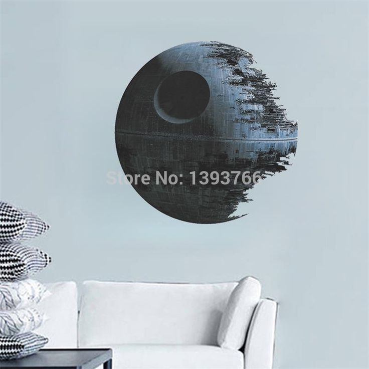 Ebay Hot Selling DEATH STAR ARTWORK Star Wars Wall Decal Removable 1441 3d WALL STICKER Home Decor Art Clone boy's room decor