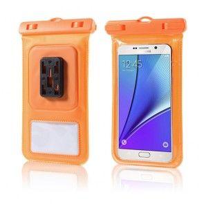 Universel Vandtæt Pose til 4,7-5,7'' Smartphones, Størrelse: 16 x 8cm - Orange