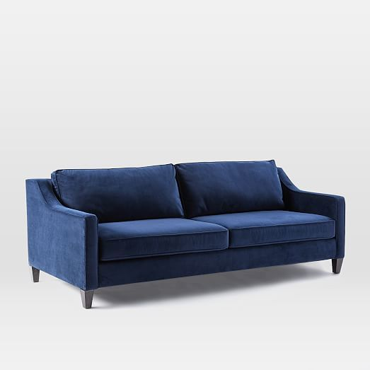 Paidge Sleeper Sofa - Ink Blue (Performance Velvet) #westelm