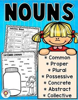 Nouns Printables and Interactive Notebook Templates - This 100+ page resource is great for your 2nd, 3rd, 4th, and 5th grade classroom. Students will learn all different types of nouns - common, proper, collective, abstract, concrete, plural, possessive, and more! Click through to see how this could be used in your second, third, fourth, or fifth grade classroom or homeschool to keep students engaged and focused on learning! $
