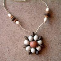magdanya kreatív: fagyöngy-virág nyaklánc
