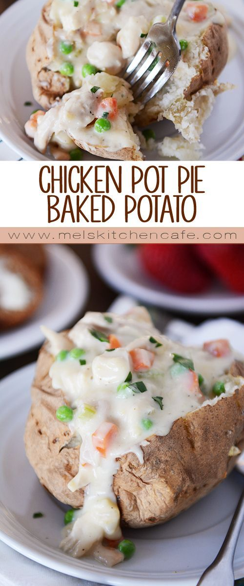 These Chicken Pot Pie Baked Potatoes are tremendously yummy and easy.