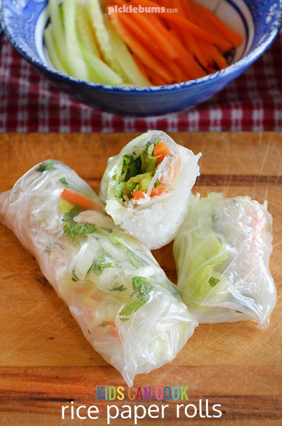 Easy to make rice paper rolls (summer rolls) using left over roast chicken