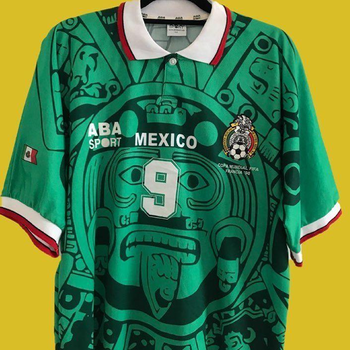 timeless design 43e53 a3737 1998 Mexico #9 Hugo Sanchez   เสื้อฟุตบอล   Football shirts ...