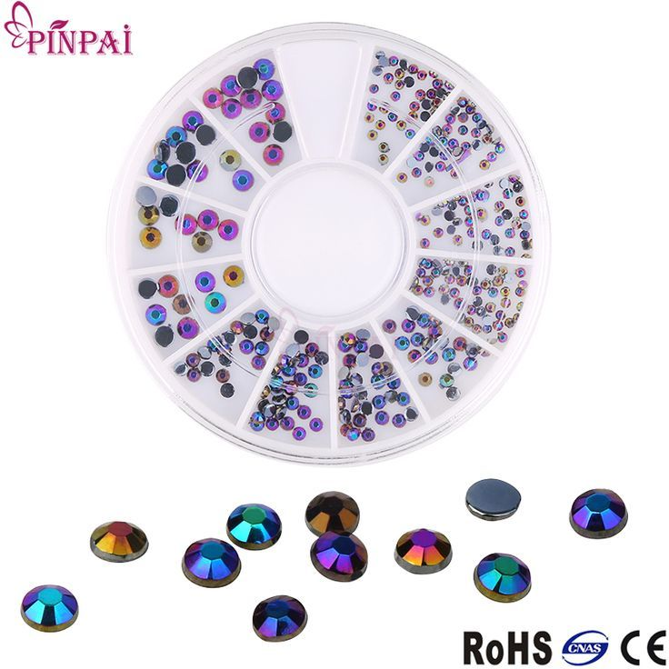 Dimonds Nails : PinPai New Arrival Charm black AB Color Diamond Nail Art Decorations Small Round