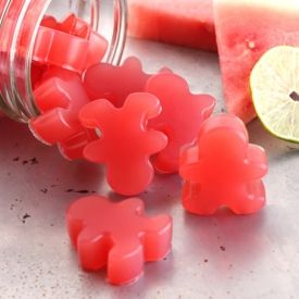 Homemade watermelon gummies! These 4 ingredient gummy treats are so much better than processed candy!