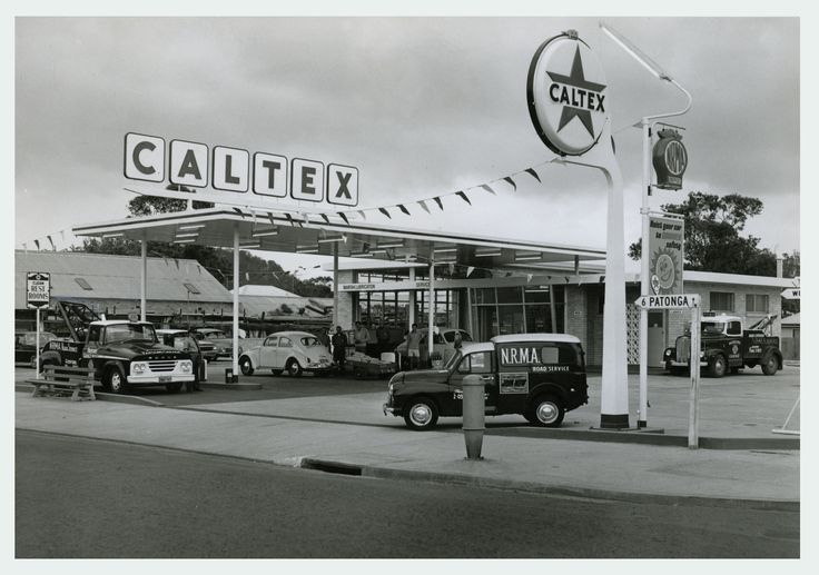 Old time Service Station. Remember when they filled the tank, checked the oil and the air in the tyres?