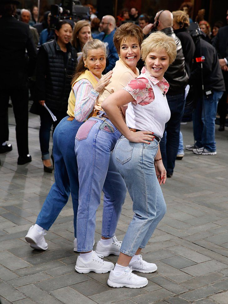 """Pin for Later: Look Back at Last Year's Best Celebrity Halloween Costumes! Jenna Bush Hager, Savannah Guthrie, and Meredith Vieira as the characters of """"Moms Jeans"""" The trio took part in Today's Saturday Night Live-themed group costume inspired by the """"Mom Jeans"""" skit."""