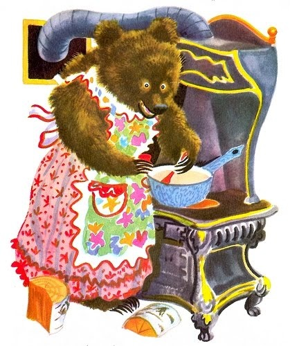 .Feodor Rajankovski, Feodor Stepanovich, Mothers Bears, Three Bears, Feodor Rojankovsky, Uncommon Illustration, Feodor Rojanovski