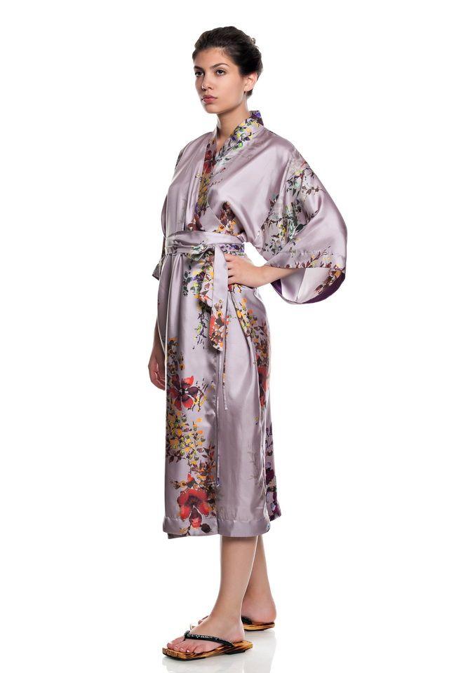Silk Kimono Robe.