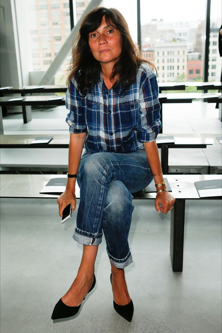 Emmanuelle Alt at Calvin Klein Collection New York - Collezioni Primavera Estate 2015 - Vogue