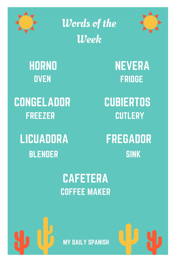 How To Say Coffee Maker In Spanish : 17 Best ideas about List Of Spanish Words on Pinterest Learning spanish, Spanish language and ...