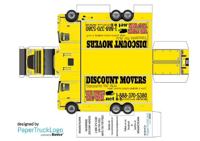 Make A Papercraft Truck With Your Logo On It Com Imagens