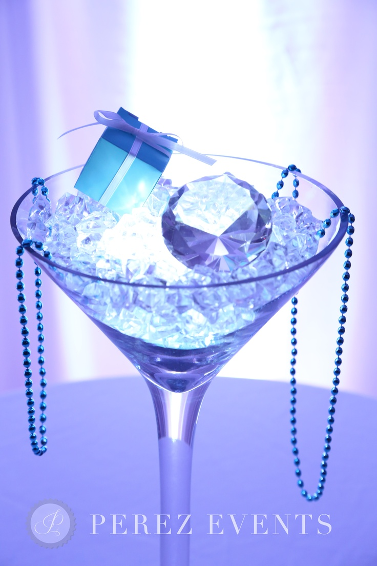 Superior Martini Glass Centerpiece.