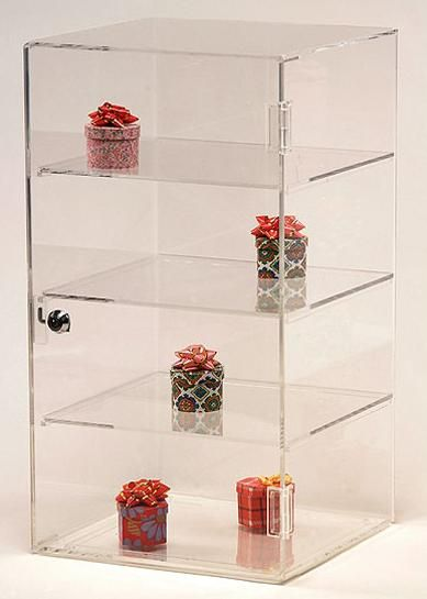 Acrylic Square Showcase | Retail Acrylic Display Case | Case