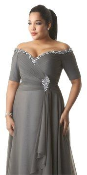 Handmade Platinum Silver Ruched Dress