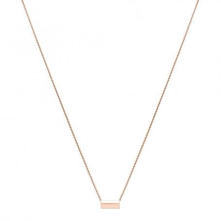 Collier Mini Straw en or rose Ginette NY - Ginette NY - Marques - Bijoux femme