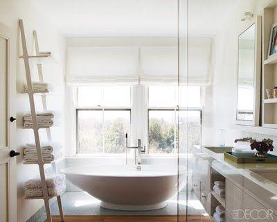 nantucket vacation beach house master bathroom - Bathroom Ideas Elle Decor