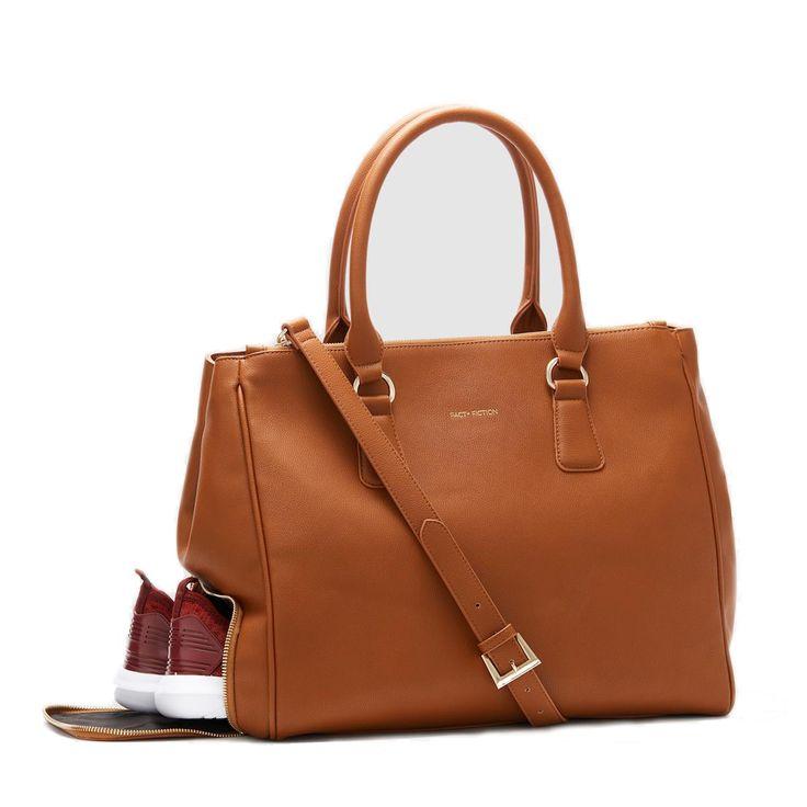 Fact + Fiction Sophia Tote Tan, £135.  The ultimate stylish functional gym bag.