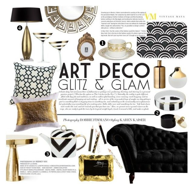 Glitz N Glam Art Deco By Emcf3548 Liked On Polyvore Featuring Interior Interiors Design Home Decor Decorating Paci