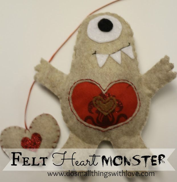 Felt Heart Monster - Do Small Things with Love
