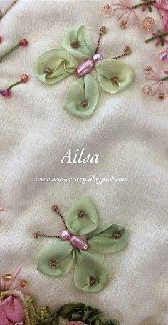 Silk Ribbon Embroidery #SilkRibbonEmbroidery #ribbonembroidery