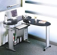 pull out swiveling computer desk