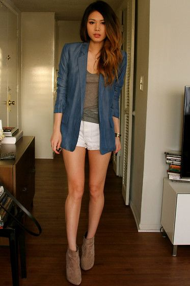 Chambray Blazer (by Vy Nguyen) http://lookbook.nu/look/4650887-Chambray-Blazer outfit to remember