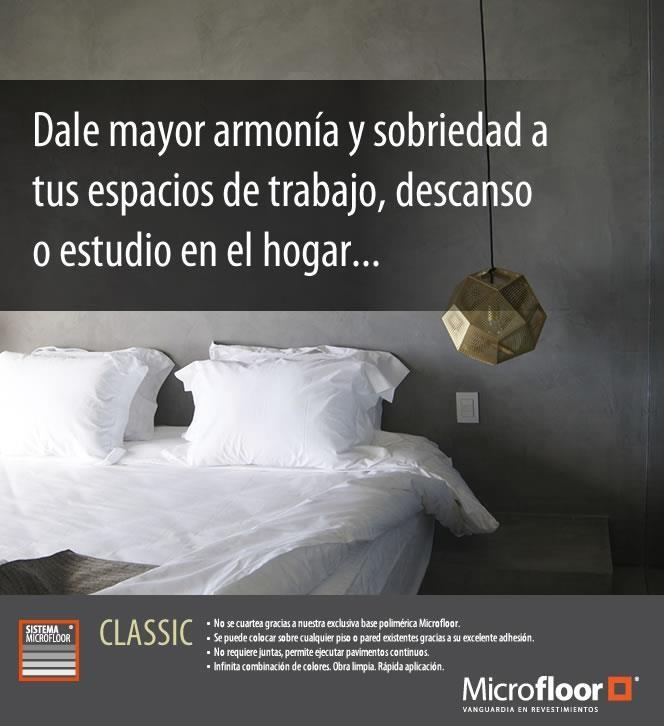 Dormitorio - Muros revestimiento en microcemento Microfloor Línea Classic