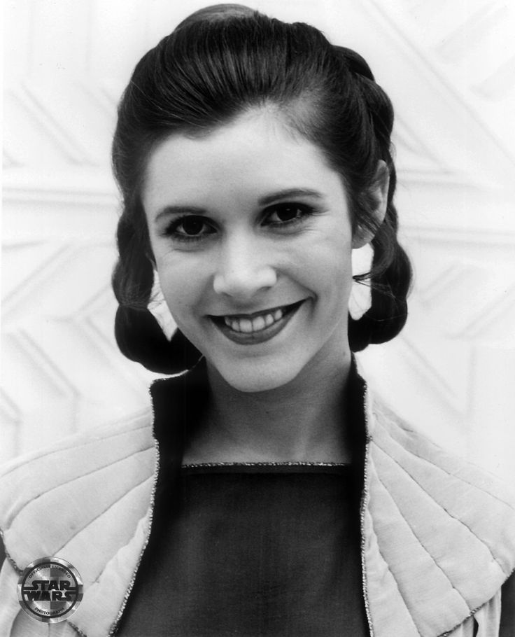 carrie fisher via starwarslover