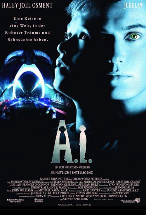 A I Steven Spielberg 2001 Artificial Intelligence Movie Really Good Movies Artificial Intelligence