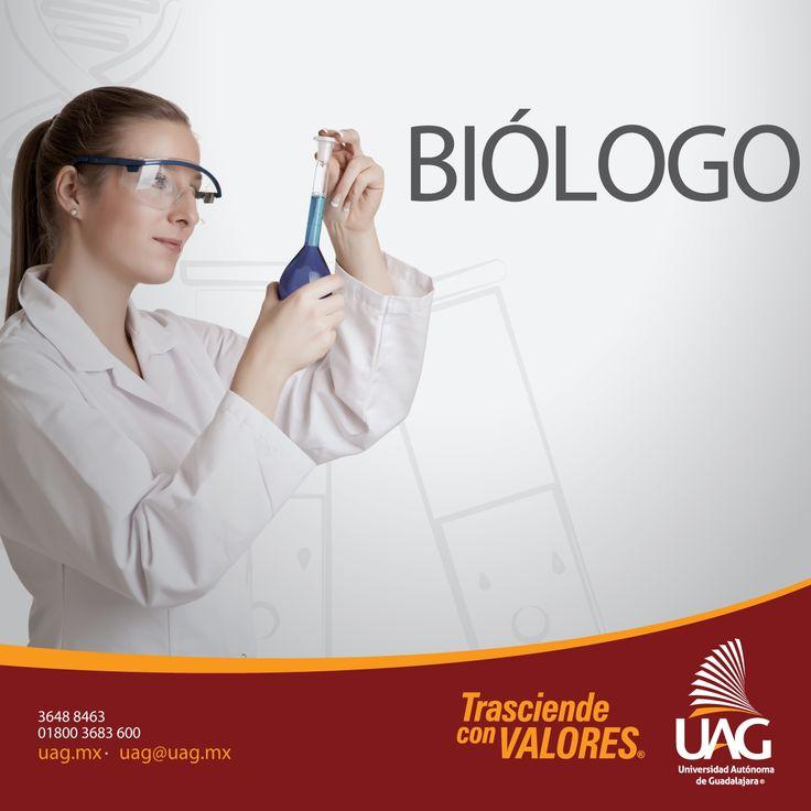Al estudiar #Biólogo en la #UAG serás un profesional capaz de realizar investigación científica sobre recursos naturales, acuicultura, genética y biotecnología.