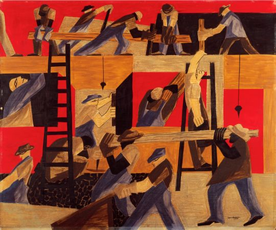 The Builders, Jacob Lawrence, 1947