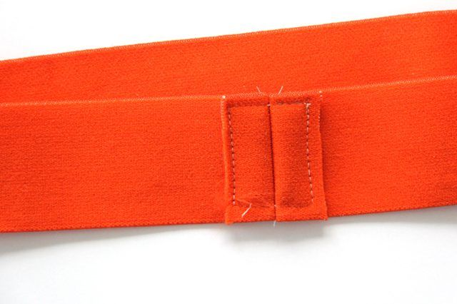 Sew down elastic seam allowance.