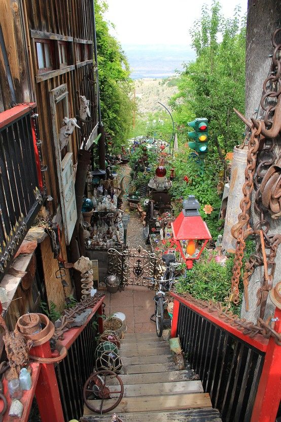 Colorful!  Jerome, Arizona.  This is a really interesting place.  The roads are narrow and straight up and the straight down.  Roller coaster!