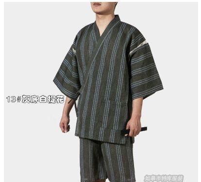 d5bb55a505 2017 Men Cotton Yukata Kimono Suit Men Japanese Traditional Pajamas set  Summer Japanese Style Bathrobe 82003