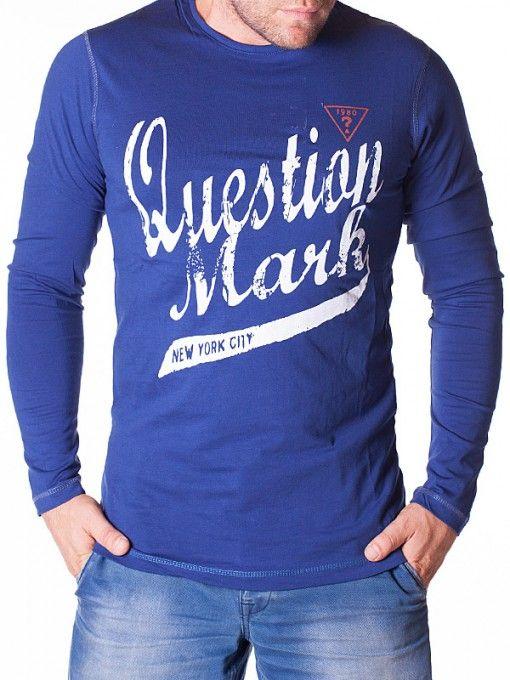 Bluza albastra Question Mark 1980 barbati