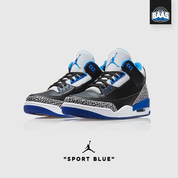 "Air Jordan 3 Retro BG ""Sport Blue"" | Fresh release from Jordan | www.sneakerbaas.nl | #Air #Jordan #Retro #baasbovenbaas"