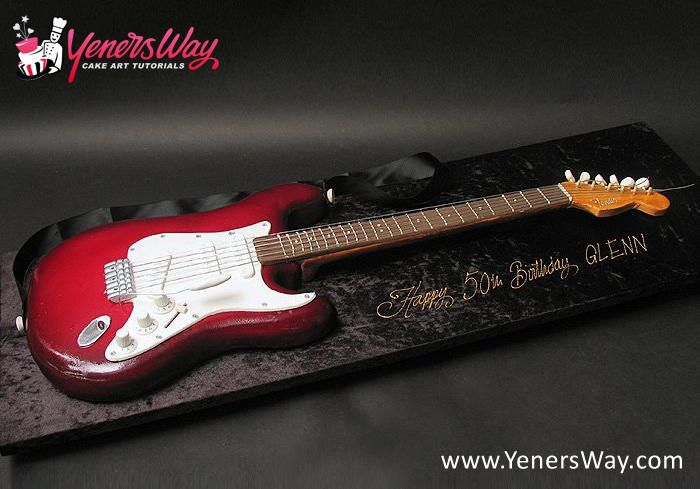 3D Fender Electric Guitar Cake
