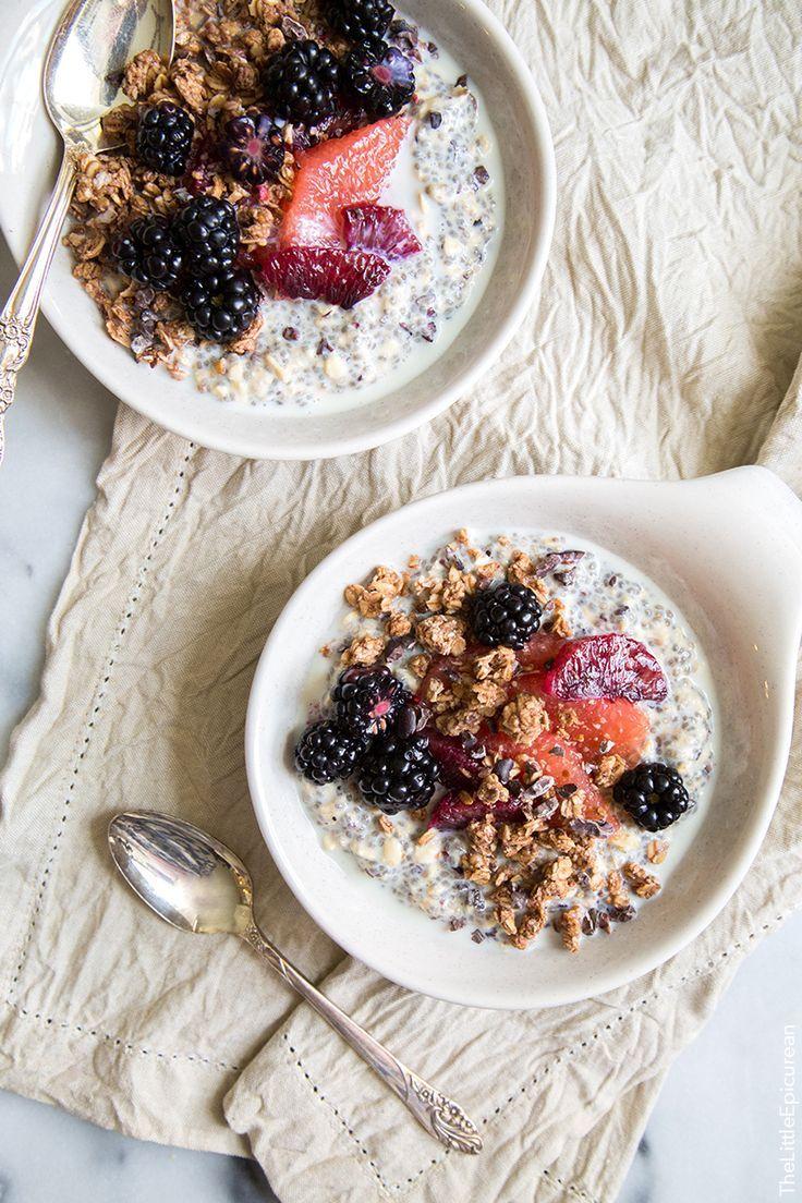 Chia Oatmeal Breakfast Bowl   Recipe from The Little Epicurean