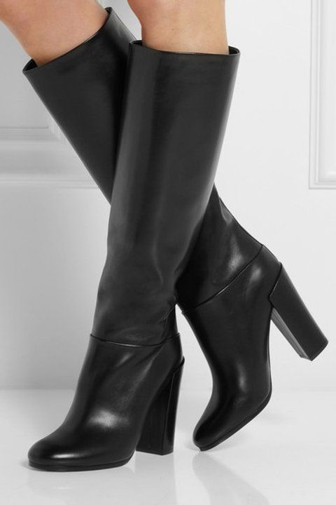 Straight from the brand s pre-fall  14 presentation, Proenza Schouler s  Italian-made glossed leather knee boots are timelessly chic. 6d7190d5ad5f