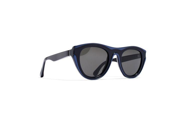 mykita + maison martin margiela dual 4 frame in blue/navy