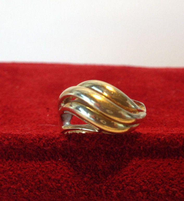 VINTAGE HUBERTUS VON SKAL 14K YELLOW GOLD WAVE COCKTAIL RING SIZE 6, 4 GRAMS #HubertusVonSkal #Cocktail