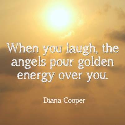 When you laugh....